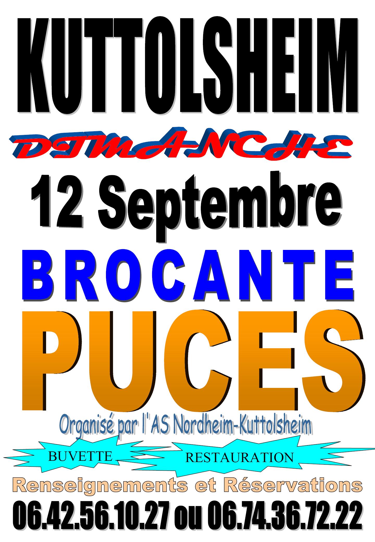 BROCANTE -MARCHE AUX PUCES KUTTOLSHEIM